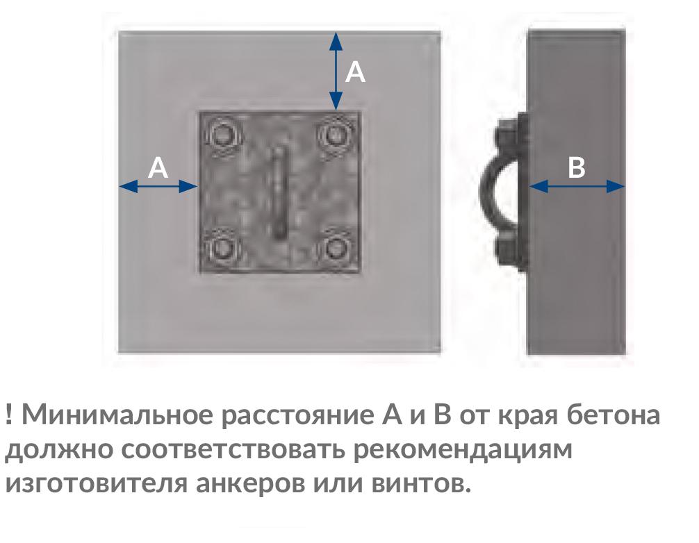 Стеновой кронштейн со скобой - Подвесные системы