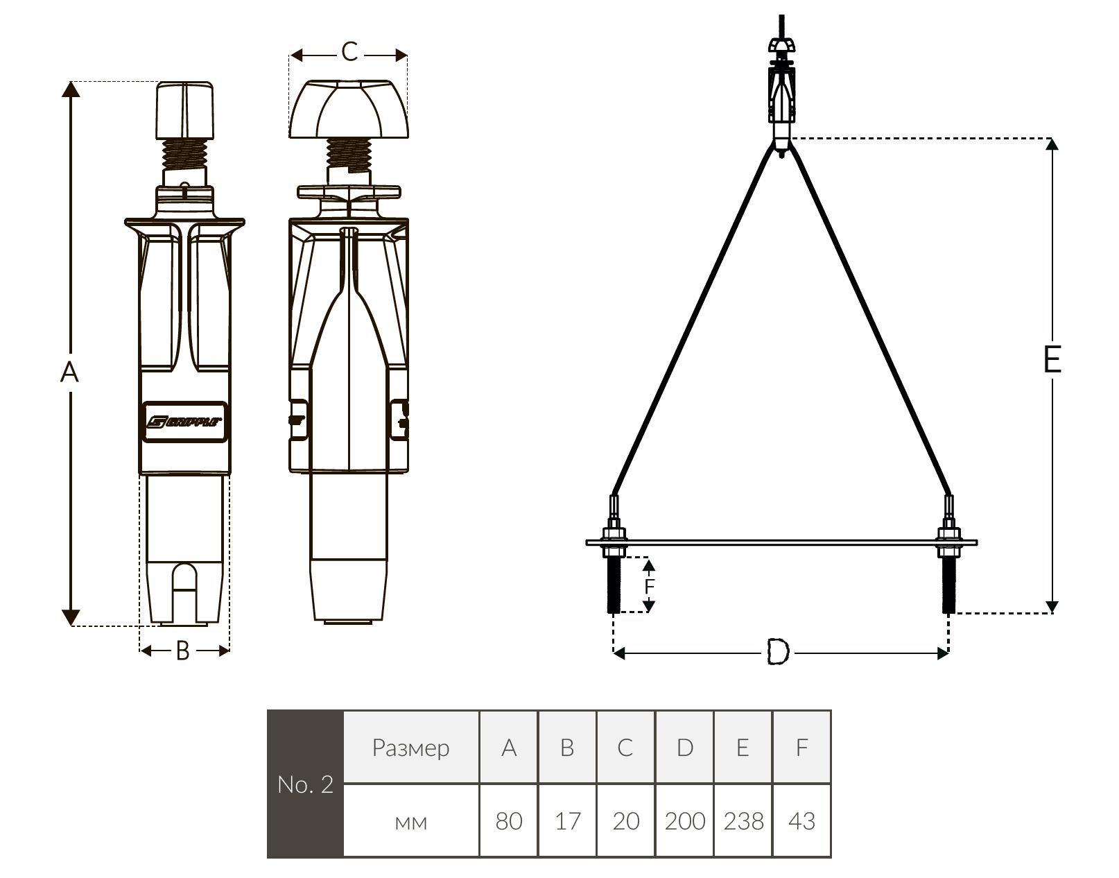 UniGrip Y-Pipe спецификация
